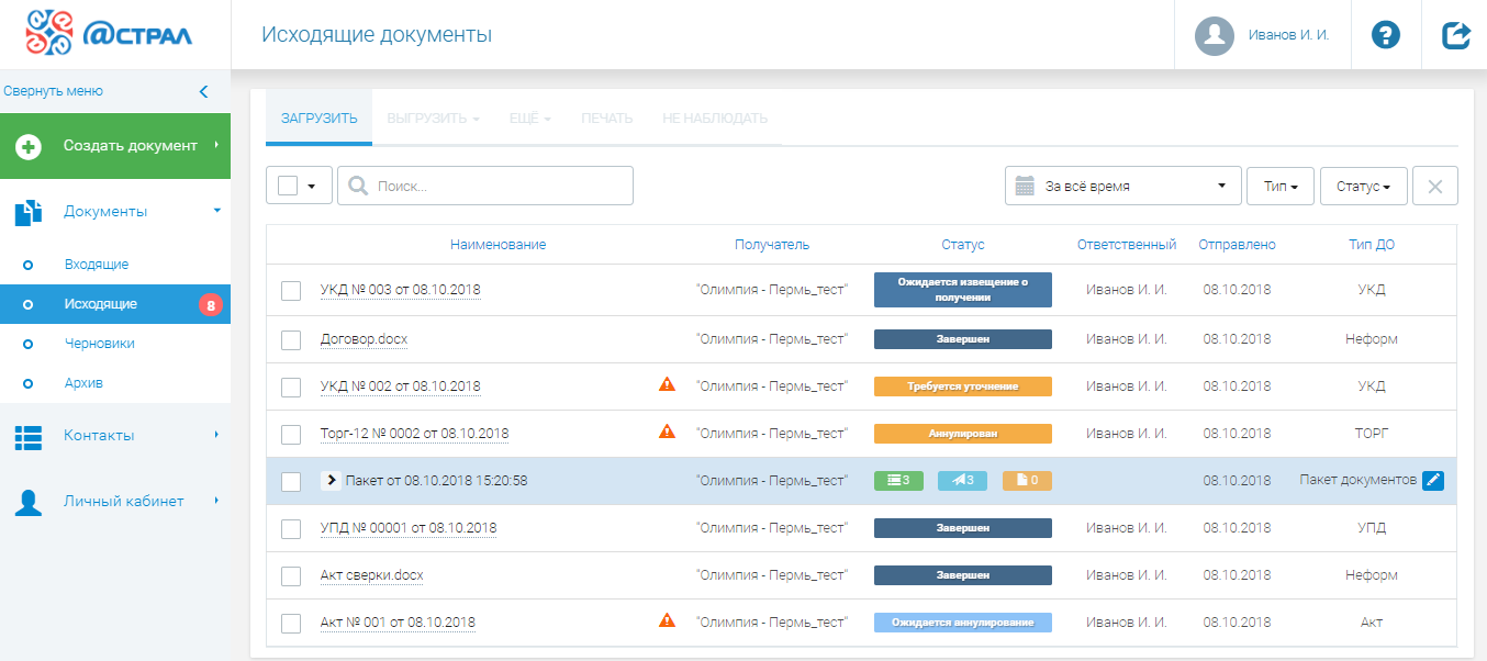 Электронная отчетность астрал в спб регистрация ооо заявление на инн