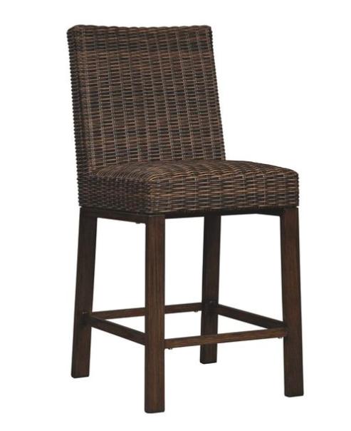 Outdoor Resin Wicker Barstools