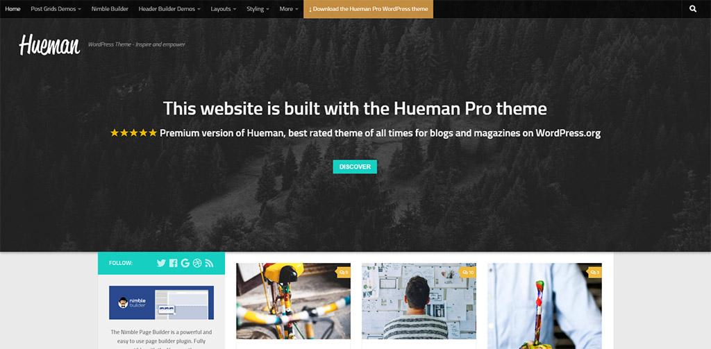 template para blog hueman