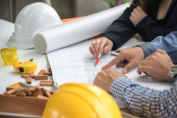 structural engineer looking at foundation plan