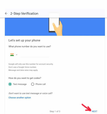 2 step verification in gmail