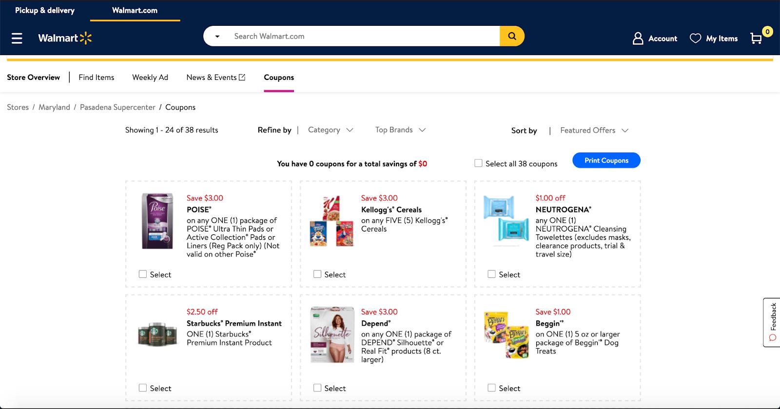 Walmart Downloadable Coupons