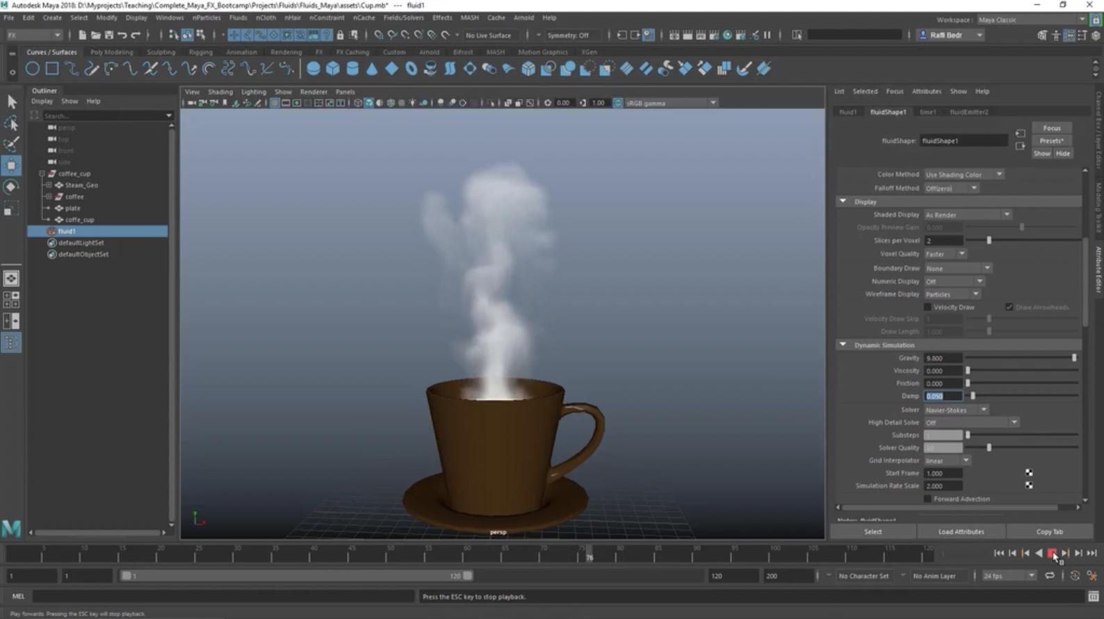 coffee cup in Maya