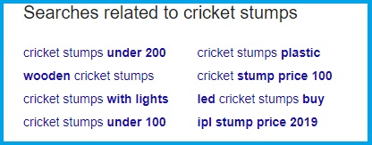 SEARCH RESULTS RELATED TO CRICKET STUMPS