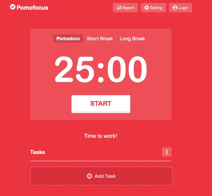 Pomofocus timer
