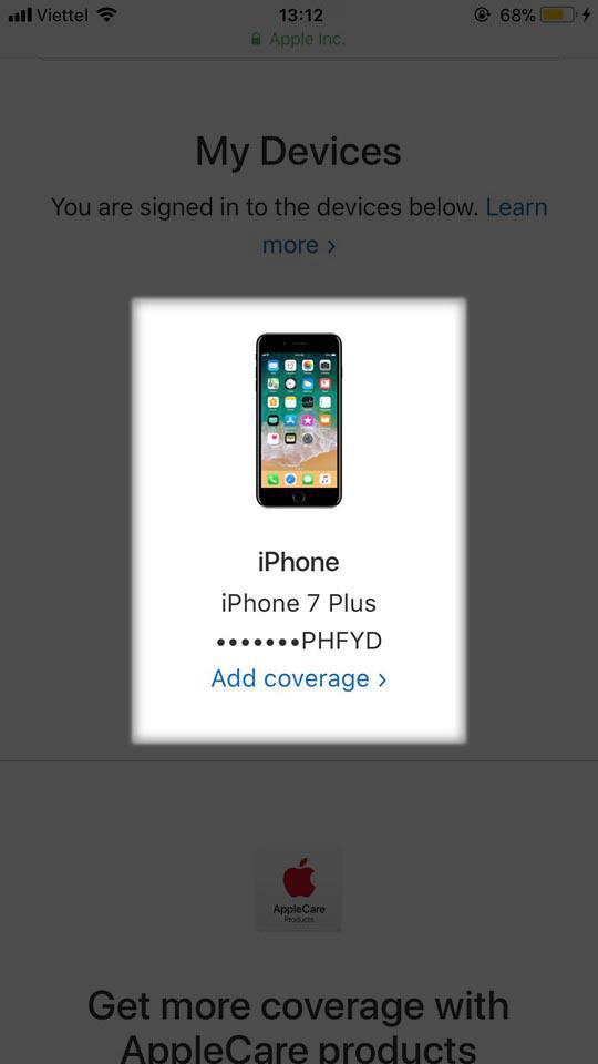 kiểm tra bảo hành iphone