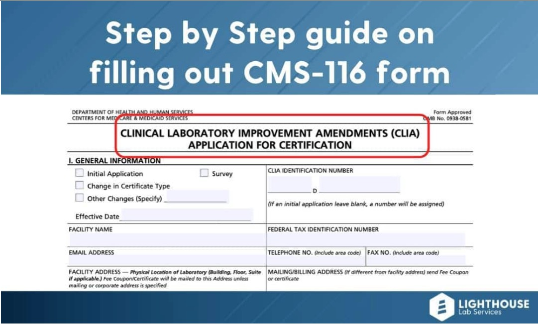 A step by step guide to preparing a CLIA application.