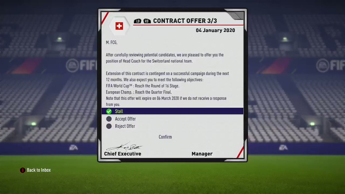 How to manage a national team in Fifa 14