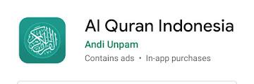 Al Quran Indonesia ~ memberi kemudahan belajar Al Quran setiap saat