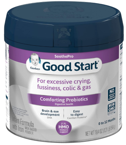 2. Gerber Good Start Soothe Infant Formula for reflux and colic