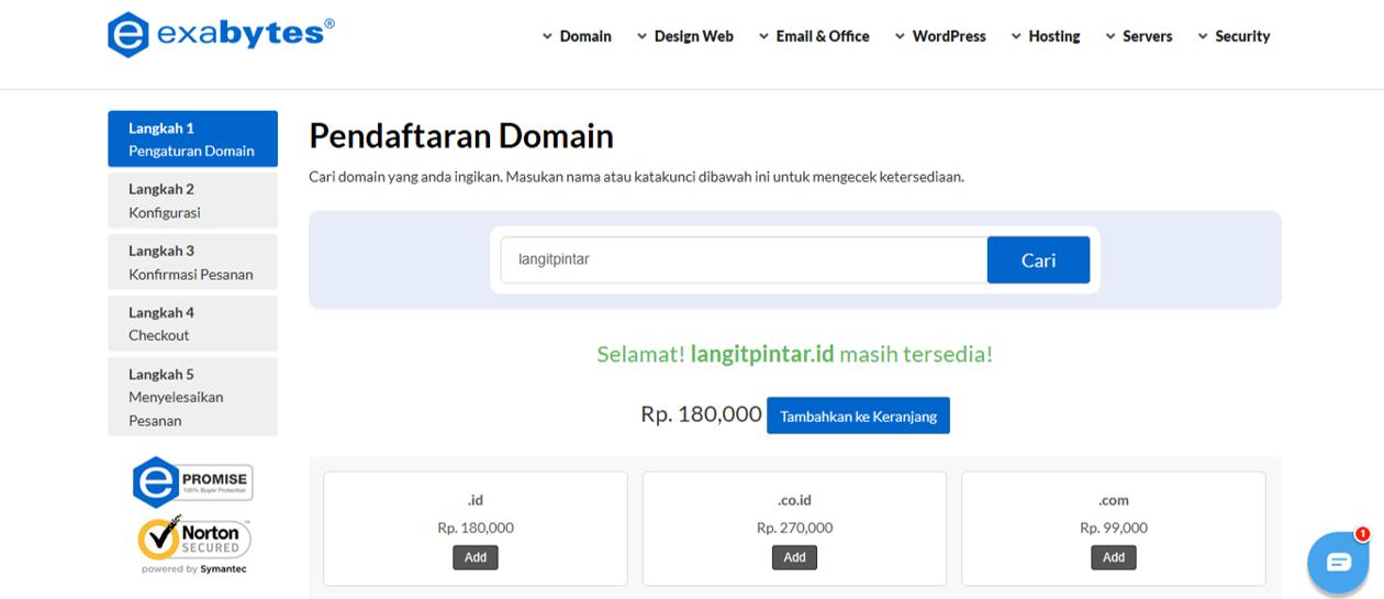 6 Cara Mudah Mendaftarkan Domain Di Exabytes