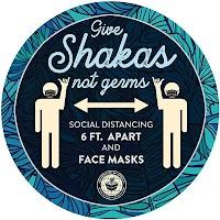 """9"""" Blue Circle - Give Shakas"""