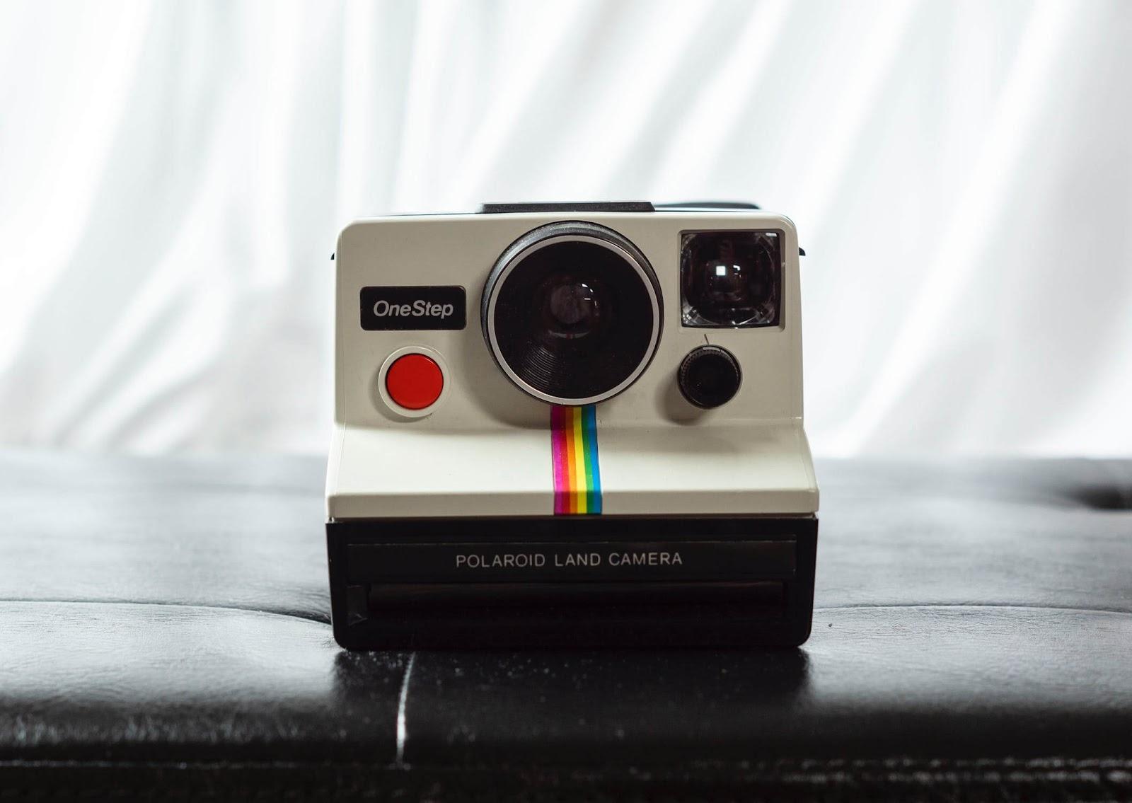 marketing on instagram polaroid land camera