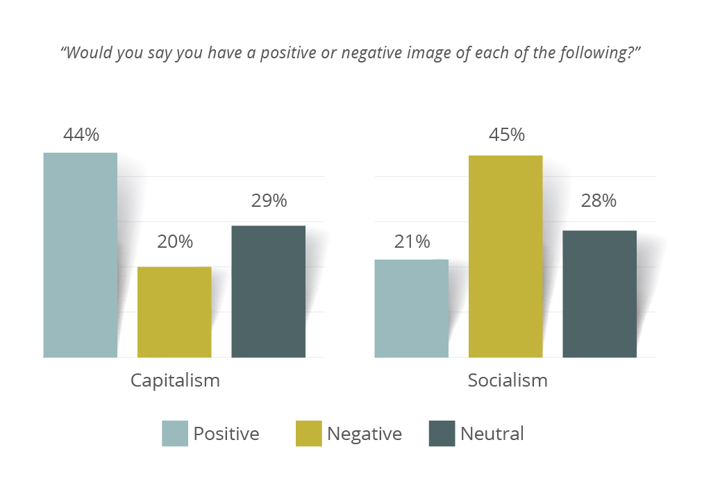 Meeting Street Insights graph on views of socialism and capitalism.