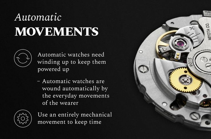 Characteristics of automatic movement watches