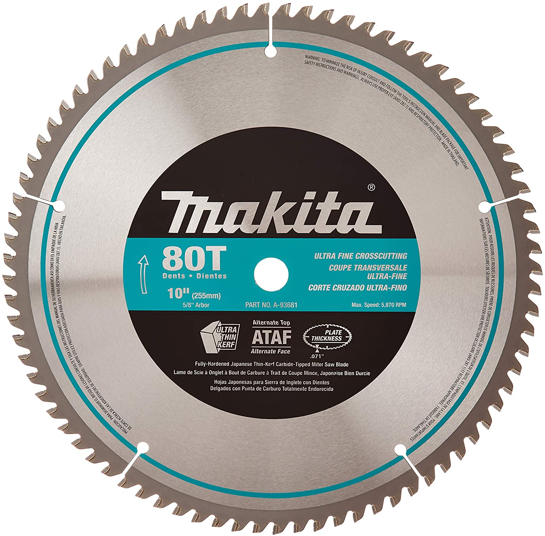 Makita 10-Inch Micro Polished Saw Blade
