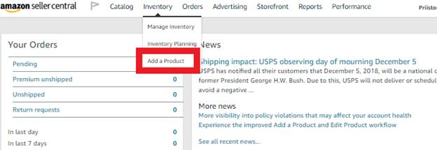 Add product to Amazon