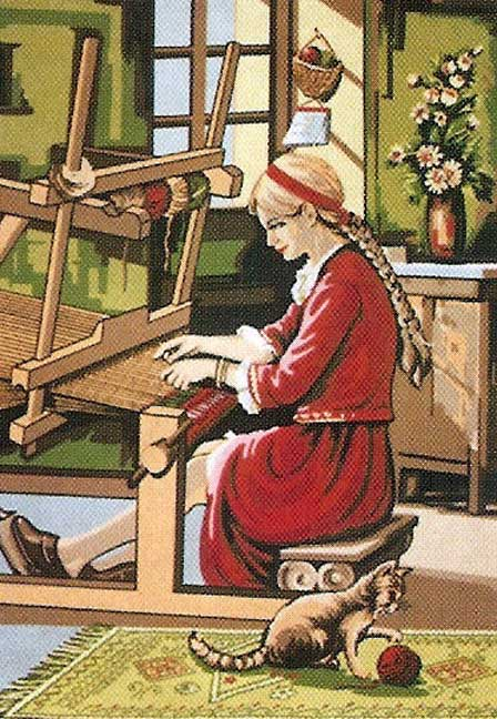 THE WEAVER AT HER LOOM NEEDLEPOINT CANVAS__Jackie's NeedleArt Mania.jpe