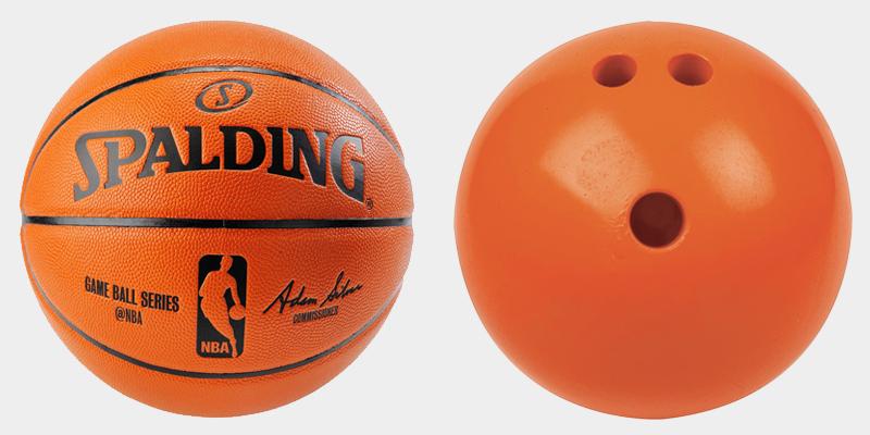 Equilibrio de baloncesto vs bola de bolos