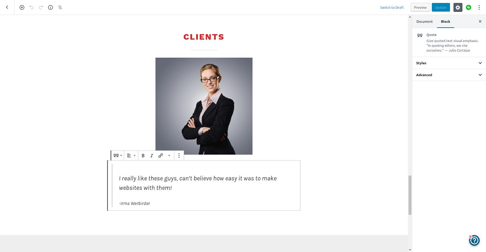 wordpress website creator editor