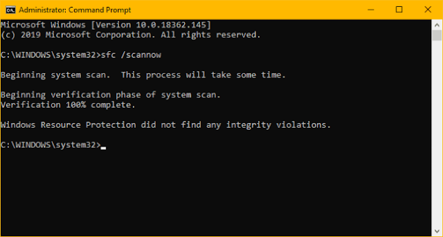 Como consertar itens de registro quebrados no Windows 10 Windows 10 sfc scan verification