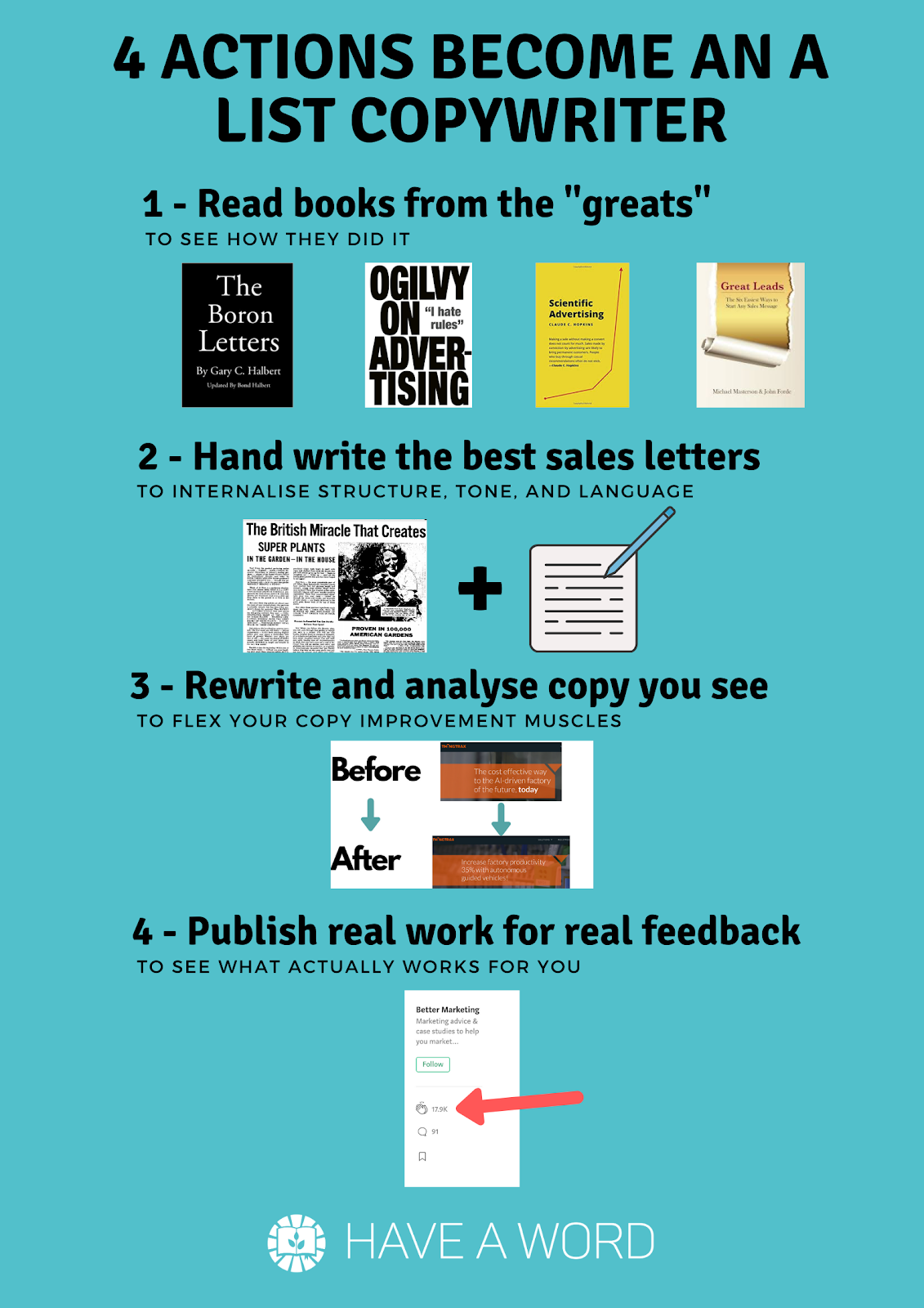 How to become a better copywriter, how to write copy that makes money, copywriting exercises