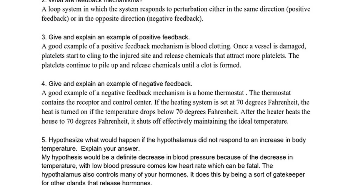 Med Sci Review Questions Homeostasis Kaylah Kramer Google Docs