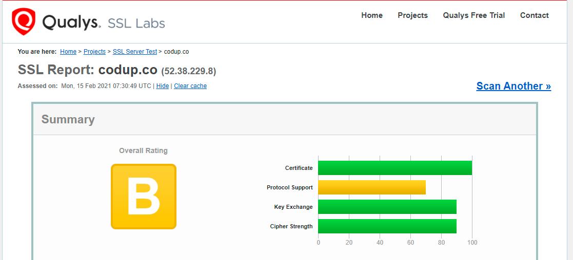 SSL Labs tool