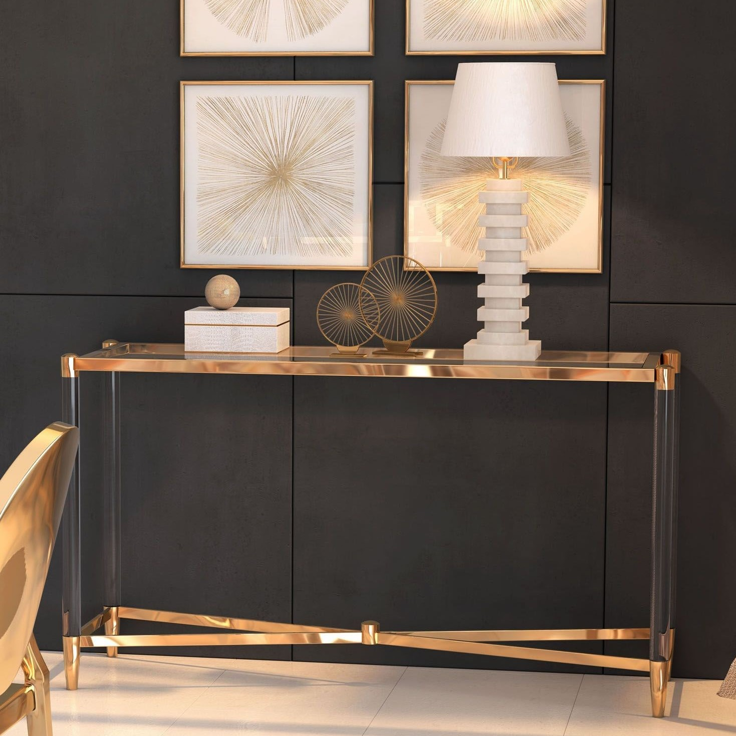 dining room interior design trends spring 2020 with console table