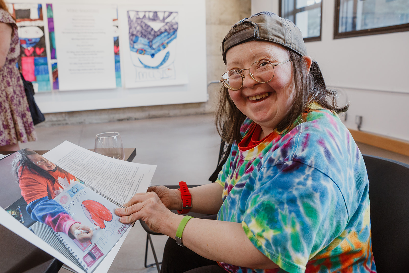 Teresa enjoys looking at her 'Totally Amazing: Free To Be Me' on July 22, 2019. Photo: This Is It Studios.