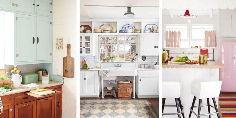 Những mẫu nhà bếp vintage đơn giản, tiện nghi