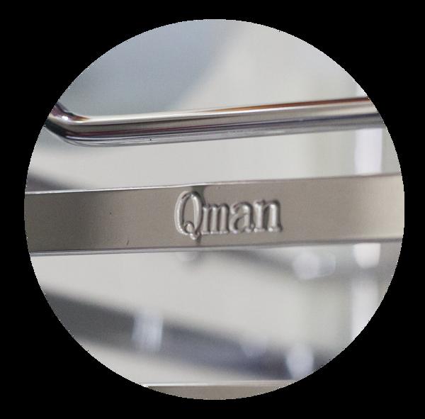 Chất liệu Inox sáng bóng và bền bỉ với thời gian - Giá bát nâng hạ Qman VA-900 - Phụ kiện bếp chính hãng