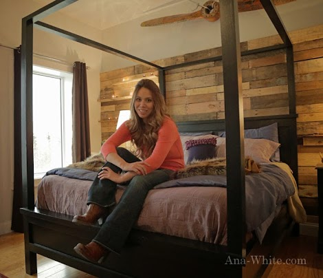 Used Canopy Bed ana white | saving alaska farmhouse canopy bed - diy projects