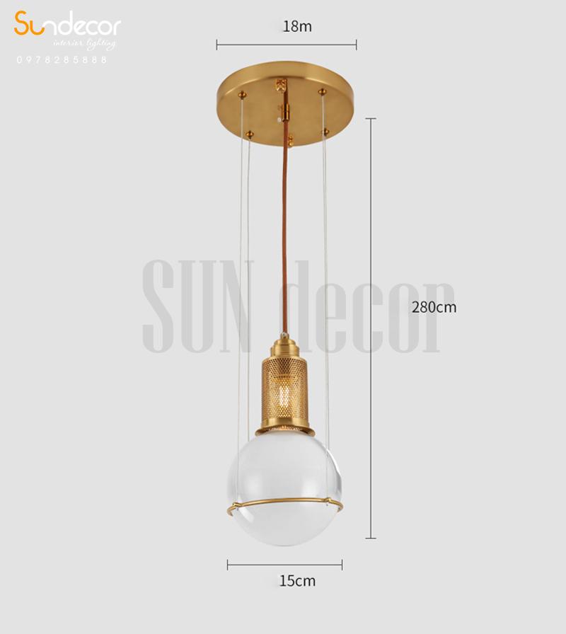 Đèn Thả Trần Cao Cấp Trang Trí Bàn Ăn - SP001073