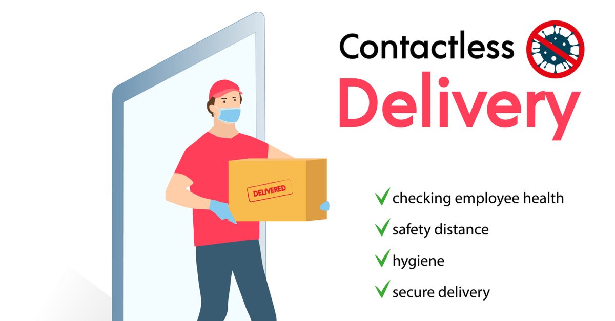How does contactless delivery work: Tookan