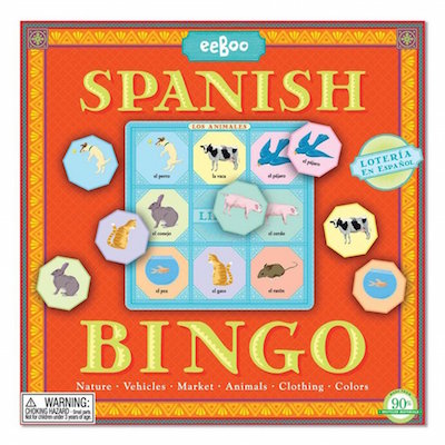 Games like bingo make great Spanish languaage gifts for kids or teachers.