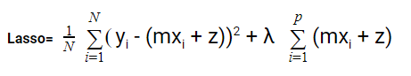the equation of lasso function
