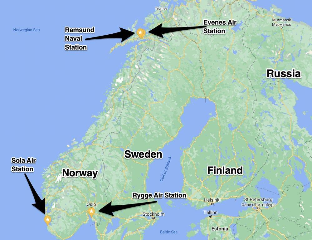 Norwegian military bases