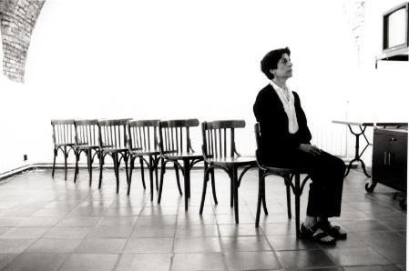 Spanish female artists Esther Ferrer
