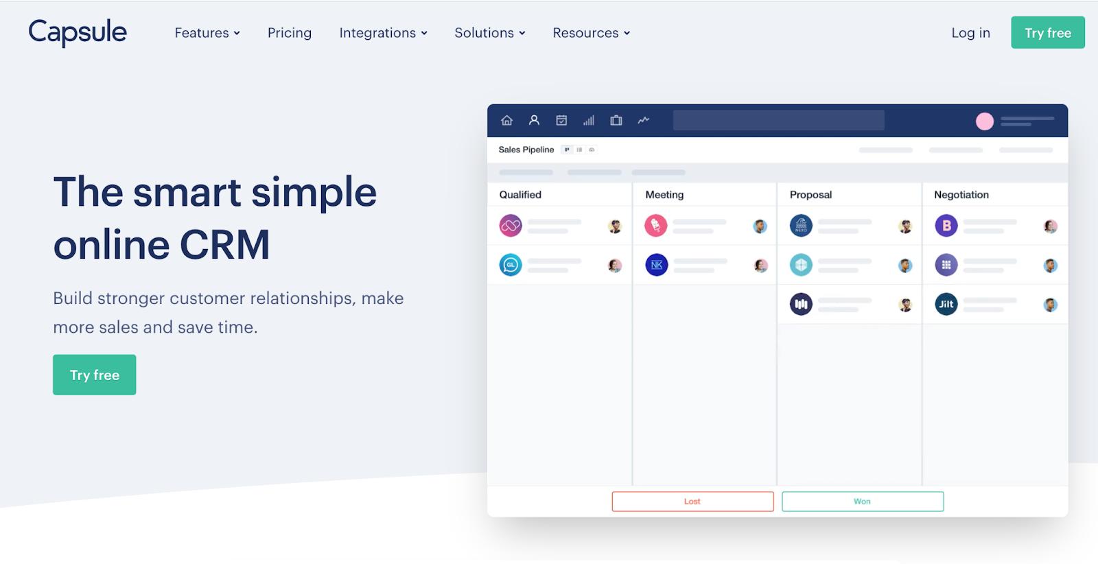client relationship management software capsule