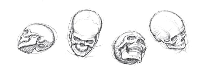 Картинки черепа рисовать