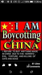 Stand With All Of Us And Boycott All Products Made In China Sold ...
