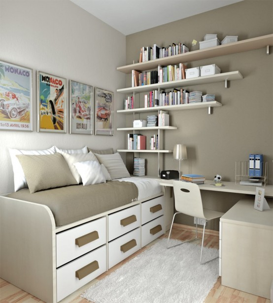 Add Open Shelving to Your Teen Girl's Study Space