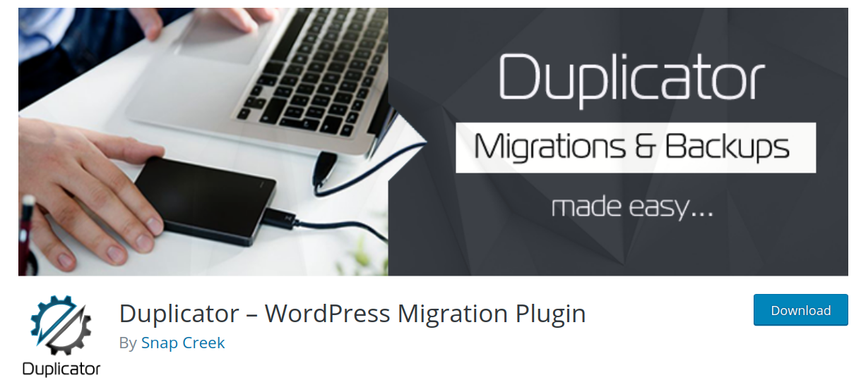 duplicator wordpress migration plugin header