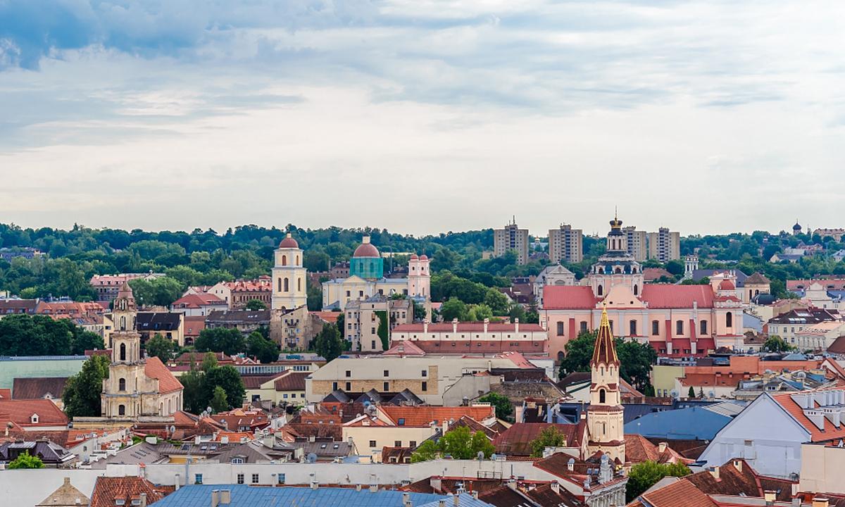 View of Vilnius, capital of Lithuania Photo: VCG