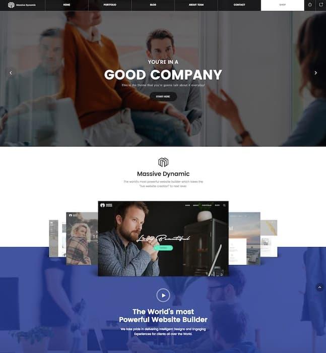 Consulting WordPress Theme Massive Dynamic