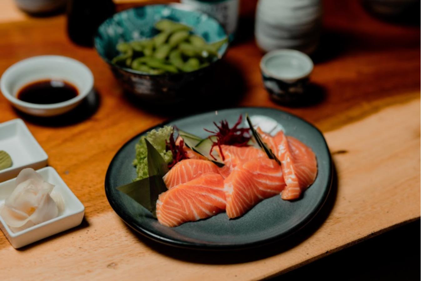 comida japonesa, salmon