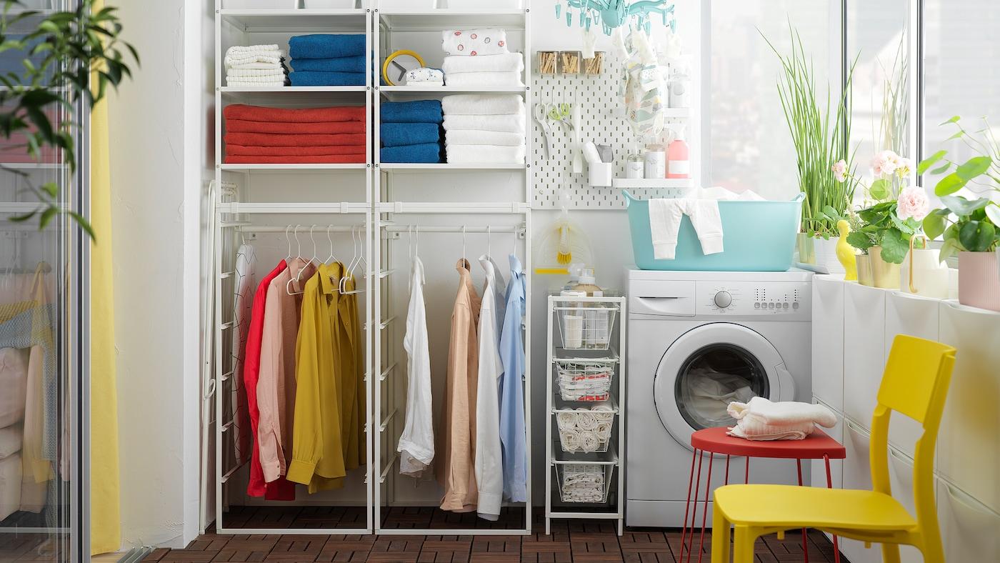 zona lavanderia colori ordine