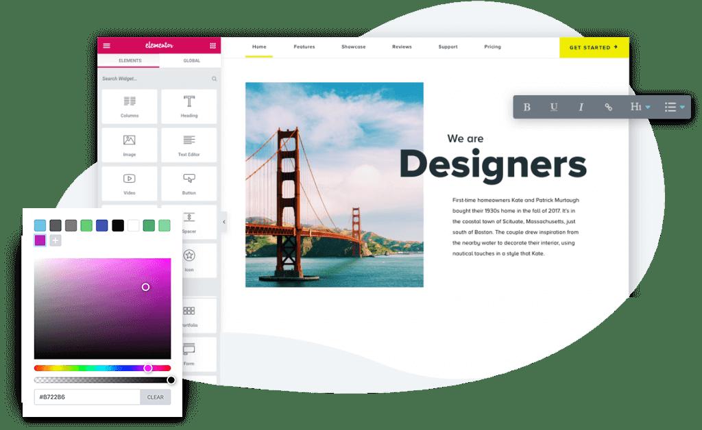 Elementor designer