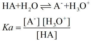 Acid and base dissociation constant